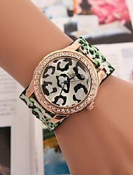 Women's Circular Sexy Leopard Set Auger Belt Watch(Assorted Colors) Cool Watches Unique Watches
