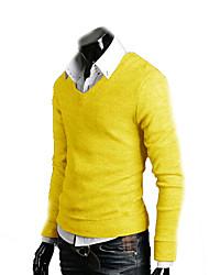 la mode casual coton mince v-cou tricot