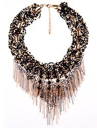 colar de franjas vintage jóias jq das mulheres