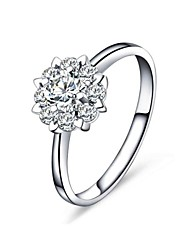 Cluster CZ Fashion Engagement Ring