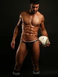 Os homens de 2015, o mais recente de ouro sexy guarnição algodão de malha de lingerie o