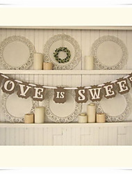 "Wedding Décor Vintage"" LOVE IS SWEET""  Party Banner"