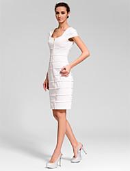 retour cocktail robe de soirée - ruby / / gaine noire / blanche colonne scoop genou longueur polyester