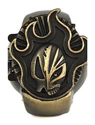 ronde unisexe patron de la flamme de combustion cadran bascule montre bague en alliage de quartz (1pc)