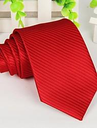 polyster vermelho longo dos homens Laço da listra 145 * 8 centímetros