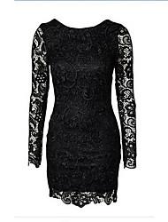 Mode Chiffon Spitze rückenfreies Kleid samantha Frauen