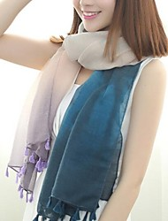 est le nouveau bleu bali mètres de foulards de fil femmes