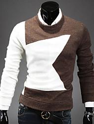 lesen Männermode schlank Pentagramm Zauber Farbe Casual Langarm-Pullover o
