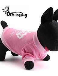 Cães / Gatos Camiseta Rosa Primavera/Outono Tiaras e Coroas