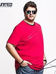 H-United Big-Tall Men's Short Sleeve Crewneck T-Shirt with Shark 2XL 3XL 4XL 5XL 6XL RED