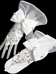 Elbow Length Glove Tulle Bridal Gloves