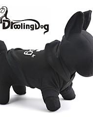 Cat / Dog Hoodie Black Dog Clothes Winter Animal / Cartoon