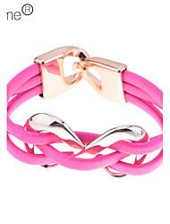 lureme®candy Farbe unendlichen Charme PU-Armband (gelegentliche Farbe)