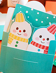 Two-sided Open Cute Christmas Cards(Random Color)