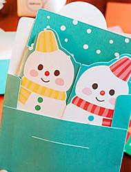 dos caras abiertas tarjetas de Navidad lindas (color al azar)