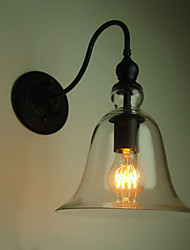 Vintage Wall Lamp One Light  Steel and Glass