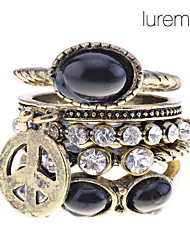 Ring Party / Daily Jewelry Alloy Midi Rings / Statement Rings9 Black