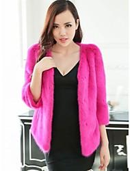 vison peau intégrale de manteaux de fourrure des femmes (dièse) veste de fourrure (plus de couleur)