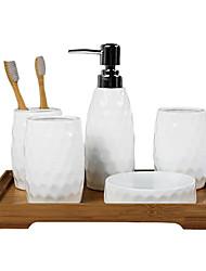 baño de juego de accesorios, kits de cepillo de dientes taza suite de baño contemporánea de la boda Conjunto 5 piezas