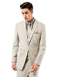 solide brun costume coupe ajustée lumière en laine