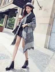 damesmode contrasterende kleur kwastje lange shawl (meer kleuren)
