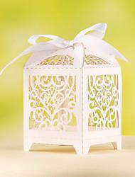 12 Piece/Set Favor Holder - Cubic Card Paper Favor Boxes Delicate Heart Design Laser Cut