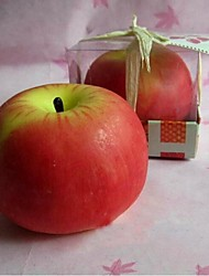 1.96''H  Super Simulation Apple Pattern Candle,Set of 3