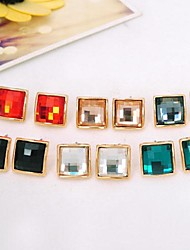 Kinder/Damen Ohrring Legierung Kristall Stud Earrings