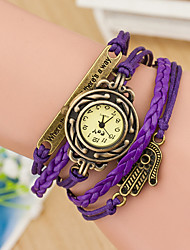 Wanbao Women's Fashion Weave Bracelet Watch