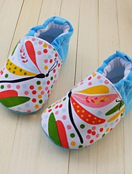 Baby Shoes First Walkers  Crib Shoes Flat Heel Loafers with Applique Shoes
