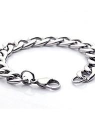 High Quality 1.1cm Width Contracted Titanium Steel Men's Chain Bracelet
