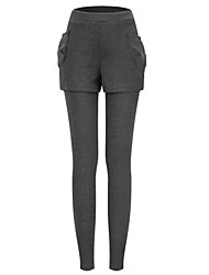 Women's Blue/Red/Black/Gray Skinny Pants , Bodycon/Casual