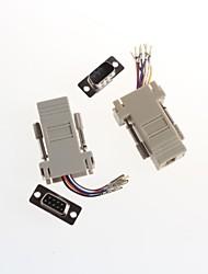la tête de l'ordinateur DB9 (mâle et femelle) * communication rj45 adaptateur tête 8p (x2)