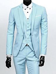 Men's Korean Style Slim Business Casual Suit (Blazer&Vest&Pants)
