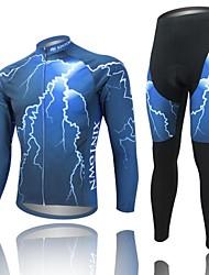oeste biking® relámpago azul otoño manga completa de bicicletas de montaña traje ropa mtb bicicleta de pantalones de ciclo Jersey fijó 2014