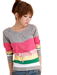 Women's Fashion Casual Stripe Knitting Blouse