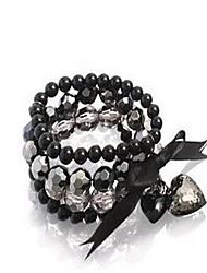 Spades Hearts Bow Beaded Bracelet