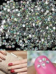 1400pcs brilho cristal 2 milímetros ab strass arte decoração de unhas