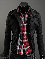 HUIZI Men's Fashion Korea Style Slim Coat