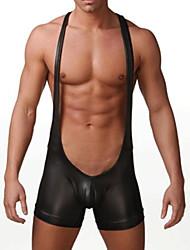 sexy cómodo imitación de cuero de la ropa interior de los hombres unidos apretado