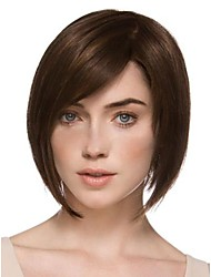 Capless Top Grade Synthetic Dark Copper Red Short Straight Bob Hairstyle Wig for Women