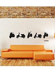 decalques de parede adesivos de parede, decoração de parede vespa do motor poster pvc murais stickers