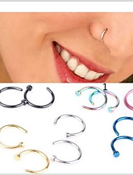 Body Piercing Jewellery Unsex Stainless Steel Nose Hoop Nose Rings Body Piercing Jewelry Ear stud Christmas Gifts