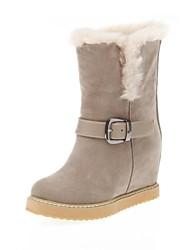 botas de los zapatos de nieve de las mujeres acuñan botas de tacón a media pierna con hebilla más colores disponibles