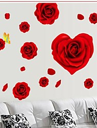 Wall Stickers Wall Decals Rose Style Decorative Sticker