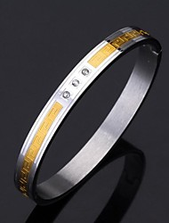 U7® Vintage G 316L Stainless Steel 18K Gold Plated Cuff Bracelet