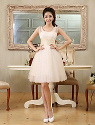 Short / Mini Tulle Bridesmaid Dress - A-line / Princess Sweetheart Plus Size / Petite with