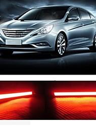 2pcs 14cm 6w 600-700lm luz corriente diurna de color rojo de alta potencia mazorca drl impermeable IP68 luz del día (12v)