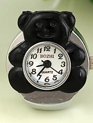 ours belle en forme de cadran rond alliage quartz anneau des femmes regarder (1pc)