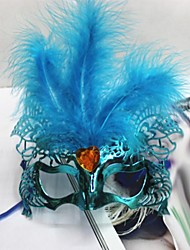 Women's Fashion Feather Cut Out Costume Party Mask(Random Color)
